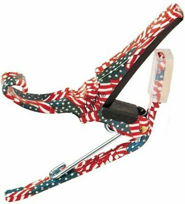 $ CDN26.65 • Buy Kyser Guitar Capo  Quick Change  American Flag - Stars And Stripes  6 String