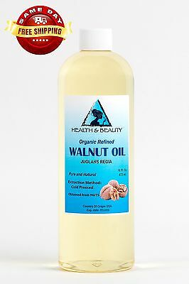 $14.39 • Buy Walnut Oil Organic Carrier Cold Pressed Premium Natural Pure 16 Oz