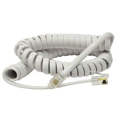 £2.19 • Buy RJ10 To RJ10 Cable For Telephone Handset Coiled Curly Lead Cord Wire – WHITE