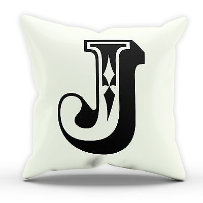 J Rose Letter Cushion Pillow Personalised Home Gift Present Birthday New Home  • 10£