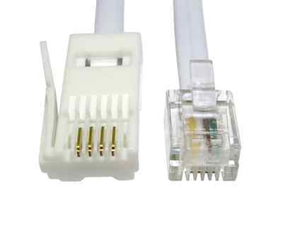 £2.29 • Buy BT To RJ11 Telephone Modem Cable Lead UK Fax Router Phone Sky Box   – WHITE