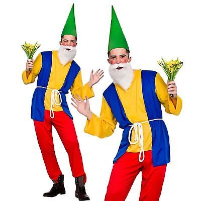 Adults Mens Funny Garden Gnome Dwarf Fancy Dress Costume Panto Stag S-XL • 15.49£