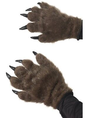 Brown Monster Hands Hairy Werewolf Gloves Adults Fancy Dress Accessory • 9.99£
