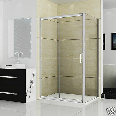 Single/Double Sliding Walk In Shower Door Enclosure Screen Cubicle Stone Tray • 258.99£