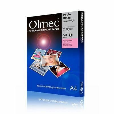 £21.95 • Buy Olmec 250G Professional Double-sided Photo Paper Gloss A4 (50) OLM65A4
