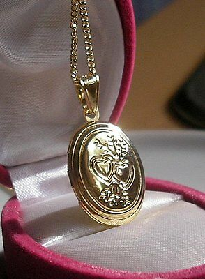 STUNNING 18CT GF LOCKET ON CHAIN SILLY CLEARANCE PRICE From 9ct Gold Bling {098} • 24.95£