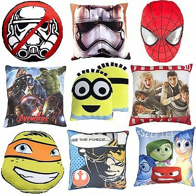 Kids Cushions - Choose 1 Or More - New Boys Girls Cushion Pillow Bedroom Disney • 10.49£