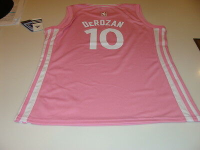 $ CDN54.99 • Buy NBA Toronto Raptors DeMar DeRozan Pink Jersey Youth XL Girls 2015-16 Logo
