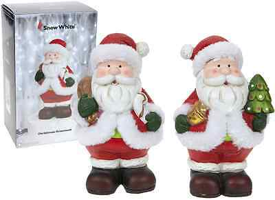 £6.99 • Buy Lovely Traditional Father Christmas Santa Claus Figure 2 Designs Xmas Decoration