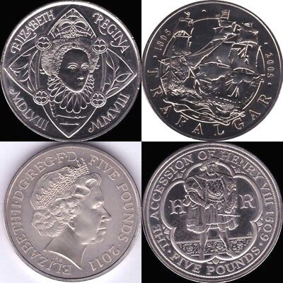 £12.95 • Buy Five Pound Coins 1993 - 2015 Circulated Very High Grade British £5 Coin