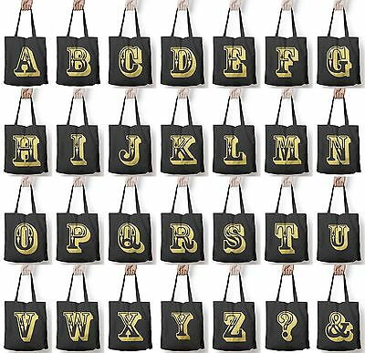 Rose Letter Alphabet Personalised Shopper Tote Womens Shopping Hand Bag For Life • 9.95£