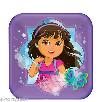 DORA THE EXPLORER AND FRIENDS SMALL PAPER PLATES (8) ~ Birthday Party Supplies • 2.79£