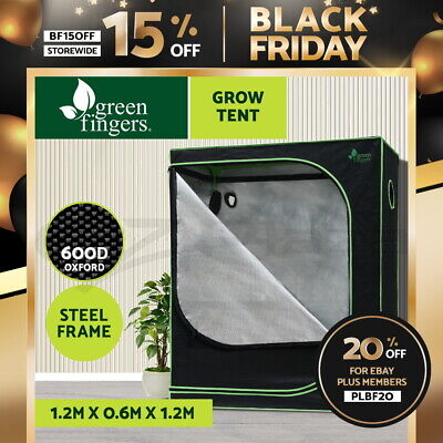 AU106.90 • Buy Greenfingers Grow Tent Kits 120 X 60 X 120cm Hydroponics Indoor Grow System
