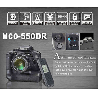 Battery Hand Grip + Remote Control For Canon EOS 550D 600D 650D 700D Camera Phot • 92.52£