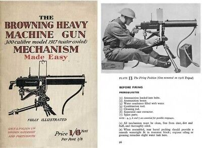 $14.95 • Buy Browning 1942 M1917 HMG .300 Cal Mech Made Easy