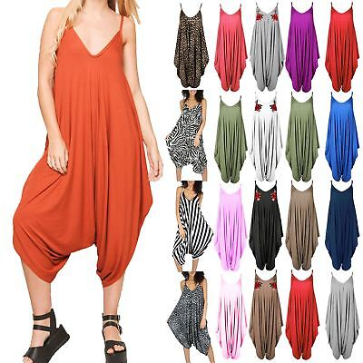 New Womens Ladies Cami Thin Strap Lagenlook Romper Baggy Harem Jumpsuit Playsuit • 5.35£