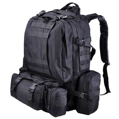 $31.79 • Buy 55L Outdoor Military Molle Tactical Backpack Rucksack Camping Bag Travel Hiking