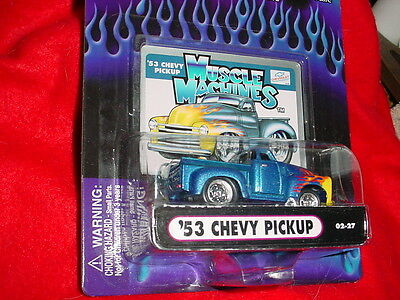 AU15.24 • Buy Muscle Machines '53 Chevy Pickup Blue Flamed 02-27 Mip Free Usa Shipping