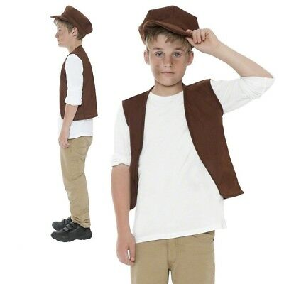 £7.99 • Buy Victorian Boy Costume Child Urchin Fancy Dress Peasant Book Day Outfit Kids