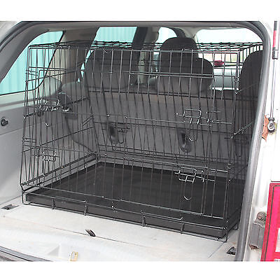 £47.99 • Buy Car Boot Folding Metal Pet Cage With Sloping Single/twin Design Dog/puppy Guard