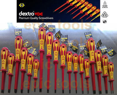 CK DEXTRO Insulated VDE Screwdrivers Choose From Pozi Phillips Slotted Modulo • 7.22£