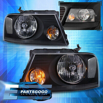 $76.99 • Buy For 04-08 Ford F150 Lincoln Mark LT Black Clear Replacement Headlights Lamps