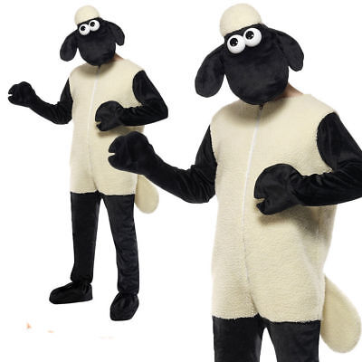 £54.99 • Buy Adults Shaun The Sheep Costume Mens Wallace And Gromit Fancy Dress Easter Outfit