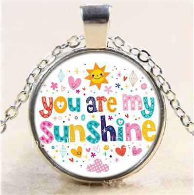 AU2.79 • Buy Colorful You Are My Sunshine Cabochon Glass Tibet Silver Chain Necklace