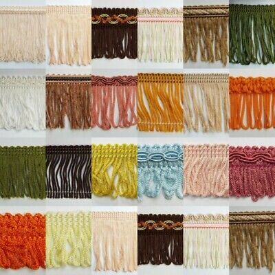 22 DESIGN Fringe Cut Loop Braid Gimp Trim Edging Lampshade Blind Costume 1 2 4m+ • 3.25£