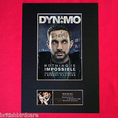 £17.99 • Buy DYNAMO Signed Reproduction Autograph Mounted Photo Print A4 388