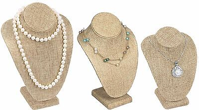 £9.56 • Buy Necklace Display Stand Burlap Jewelry Bust Display Pendant Display Stand DEAL!
