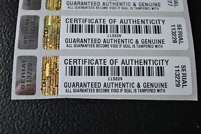 £45 • Buy COA Certificate Tamper Evident Security Stickers X 500 WITH HOLOGRAM LABEL