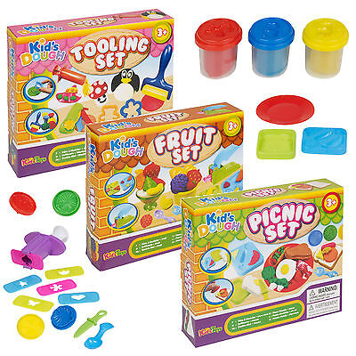 £5.95 • Buy Tooling Fruit Picnic Fun Clay Craft Dough Sets Modelling Kids Toys Shapes Gift