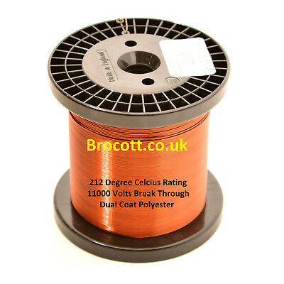 ENAMELLED COPPER WIRE, MAGNET WIRE, COIL WIRE - 0.45mm To 0.95mm / 100g To 1.5kg • 12.35£