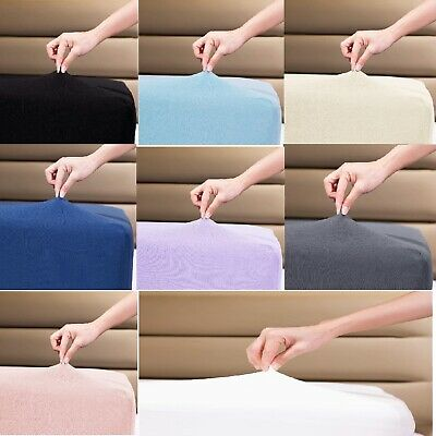 £11.99 • Buy Premium Quality Thick Jersey 100%Cotton Fitted Sheet.SinlgeDouble,king,Superking