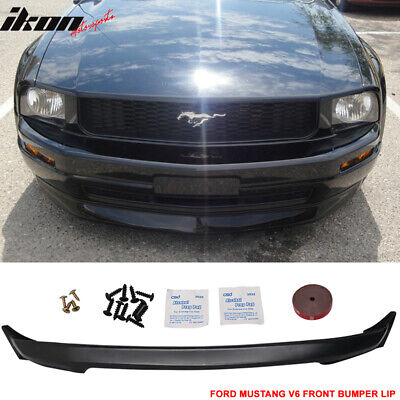 $120.88 • Buy Fits 05-09 Ford Mustang V6 3C Front Bumper Lip Spoiler Unpainted - PU
