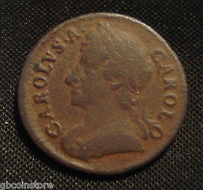 £32.99 • Buy 1674 Charles Ii Farthing (fa29) Clear Detail Some Porosity Spink 3394