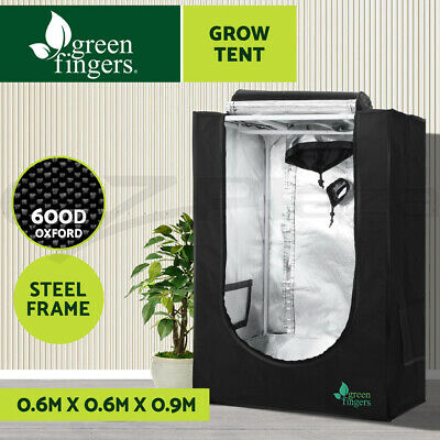 AU69.90 • Buy Greenfingers Grow Tent Kits 60X60X90CM Hydroponics Hydroponic Grow System Black