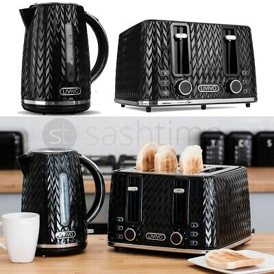 £149.95 • Buy LIVIVO 1.7L  Electric Kettle & 4 Slice Toaster Extra-Wide Slot Browning BPA Free