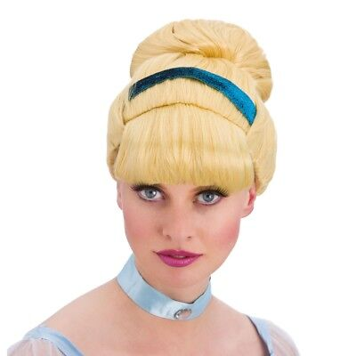 Adult Blonde Sweet Cinders Cinderella Wig New Fancy Dress Ladies Women Female • 8.49£