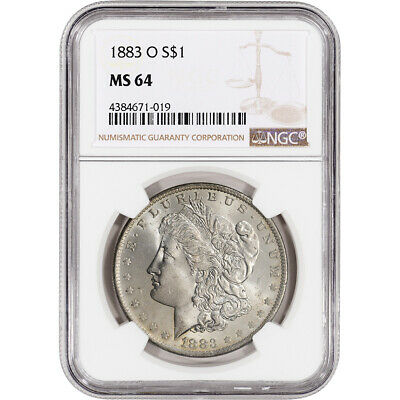 $63 • Buy 1883-O US Morgan Silver Dollar $1 - NGC MS64