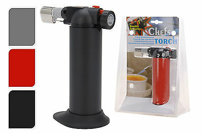 £9.99 • Buy Chefs Butane Creme Brulee Cooking/Cooks Micro Blow Torch Also Soldering Lighter