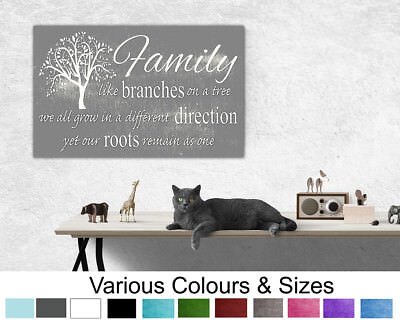 £26.99 • Buy Family Wall Art Family Like Branches On A Tree Quote Canvas Print 4 Sizes 132