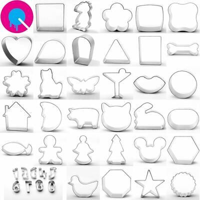Cookie Cutters 34 Designs Shapes Biscuits Baking Tools • 1.68£