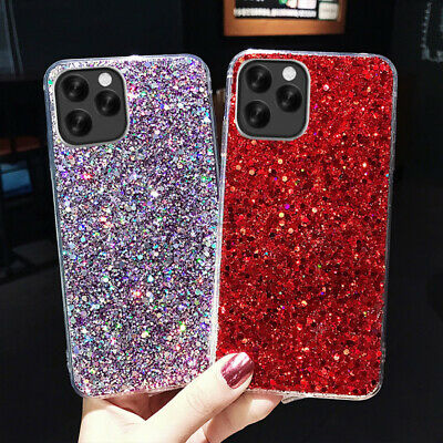 $ CDN4.31 • Buy Bling Glitter Soft Silicone Case Cover For IPhone 12 11 Pro Max X XS XR 7 8 Plus