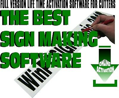 £64.64 • Buy Sign Making & Editing Software. SVG Vinyl Cutters Drivers BETTER Vectorisation