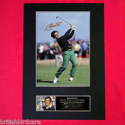 SEVE BALLESTEROS Signed Reproduction Autograph Mounted Photo Print A4 53 • 17.99£