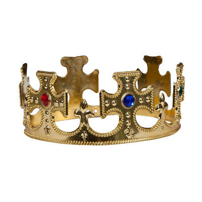 £1.99 • Buy Royal Gold Crown Adults Fancy Dress Mens Ladies King & Queen Accessory