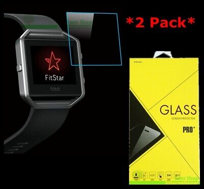 $ CDN3.99 • Buy 2X Premium Real Tempered Glass Screen Protector For Fitbit Blaze Smart Watch