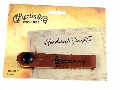$ CDN20.37 • Buy Martin Acoustic Guitar Strap Button Tie Leather Brown